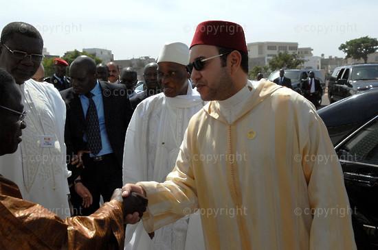 2006/11/17. King Mohamed VI's at Dakar's Great Mosque.