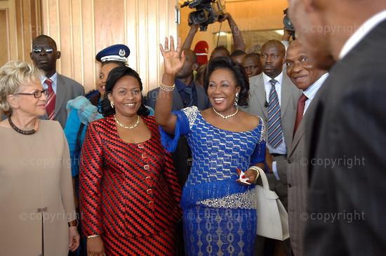 2006/11/22. First ladies summit against sickle-cell in Dakar.