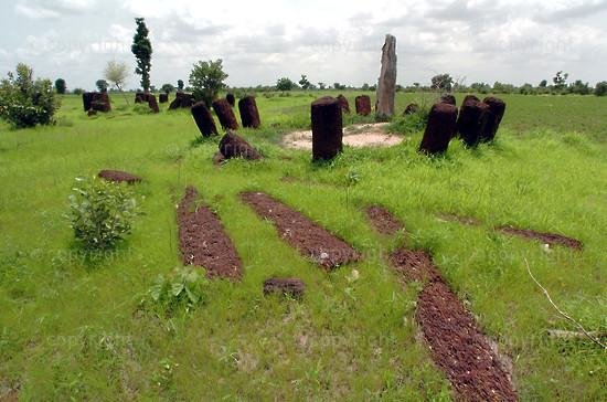 2005/08/04. Prehistoric megaliths in Senegal.