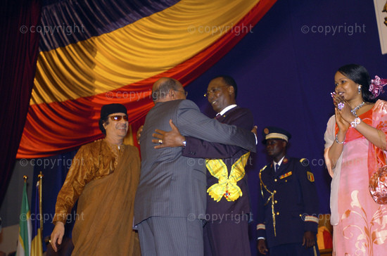 2006/08/08. Inauguration of Chadian re-elected president Deby.