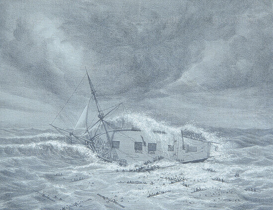 Wreck of the 'Waterloo' Convict Ship, Cape of Good Hope, 1842c.1842