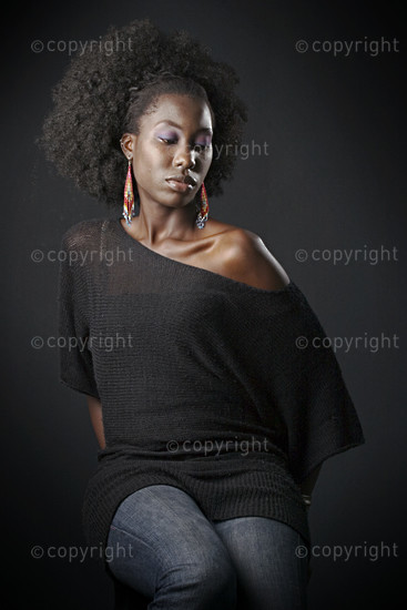 Fashion images.  Studio Shoot. Nairobi, Kenya.