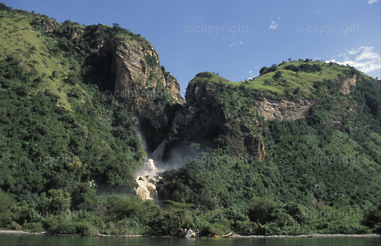 Nkusi Falls on Lake Albert, Uganda