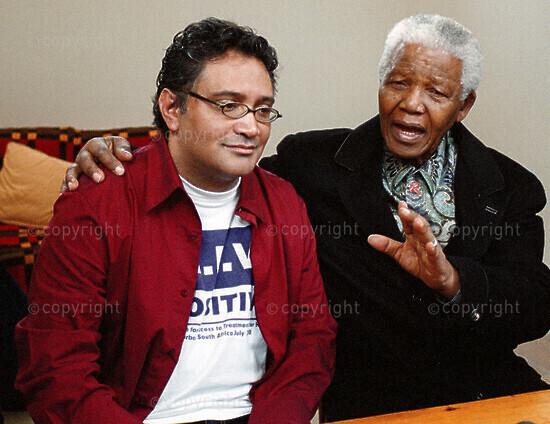 Mandela supports Aids activist