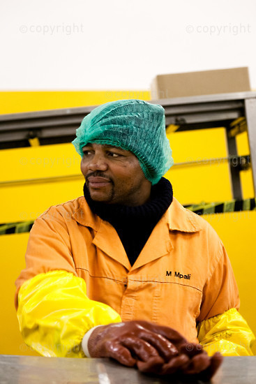 A African male worker in a factory